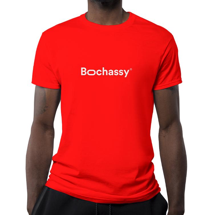Déclinaisons du logo Bochassy sur t-shirt