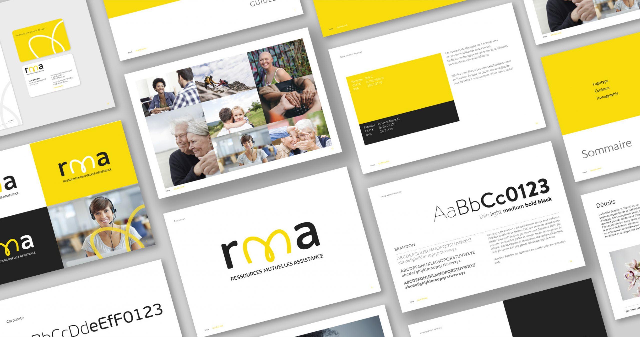 Identité visuelle et univers de marque RMA